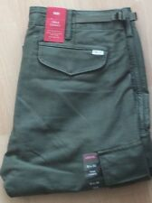 Levi's Men's New True Cargo Pants 32X32 Green LoWaist-X-Room Seat Thigh-Str-Leg