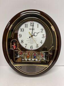 RARE Seiko QXM115BRH Melodies in Motion Wall Clock Beatles Music Songs