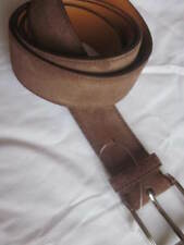 $450 Ralph Lauren Mens Made In Italy Suede Leather Single Prong Belt New