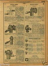1921 PAPER AD Bicycle Lamp Delta Columbia Solar Brass Liberty Everlit Kerosene