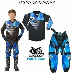 WULF 2020 KIDS FORTE MOTOCROSS QUAD BIKE JERSEY PANTS PROTECTIVE CLOTHING BLUE