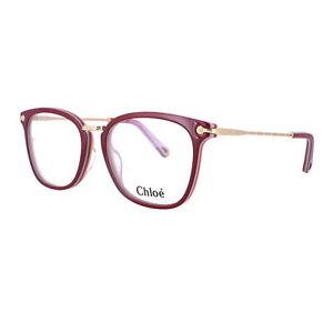 CHLOE Eyeglasses CE2734 615 Burgundy Cream Rectangle Women 53x17x140