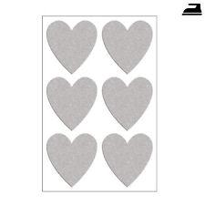 Bügelbilder Herzen reflektierend 6 Stück, Reflektor Herzen zum Aufbügeln 6 Stück