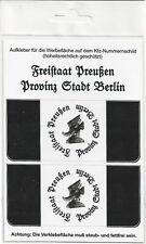 Kennzeichen-Aufkleber Freistaat Preußen Provinz Stadt Berlin