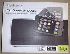 Brookstone Flip Speaker Dock,  Iphone / Ipod Black