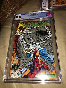 Amazing Spider-Man #328 Comic Book Cosmic Spider-Man Grey Hulk McFarlane CGC 9.4