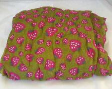 NWT Boho Geoffrey Carroll Sweet Strawberry Pink / Olive Green Scarf Large NWT