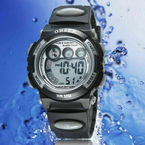 OHSEN digital Watch for Kids boys alarm and easy to tell time