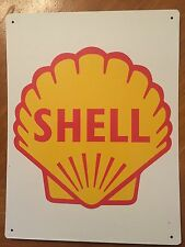 Tin Sign Vintage Shell Gas Station Motor Oil