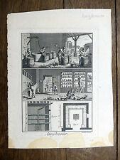 Encyclopédie Diderot D'Alembert 1 PLANCHE Amydonnier Amidonnier AMIDON 18e s.