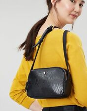 Joules Womens Farley Faux Leather Camera Cross Body Bag - True Black - One Size