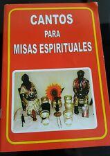 """LIBRO  """"CANTOS PARA MISAS ESPIRITUALES"""" SANTERIA IFA, PALO"""