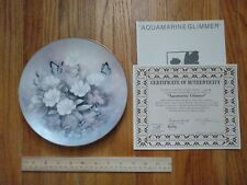 Aquamarine Glimmer Jewels of the Flowers Plate Tan Chun Chiu #8 Butterfly Floral