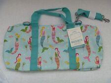 Pottery Barn Kids Aqua Mermaid Duffle Bag No Mono NWT Luggage Sleepover Sold Out