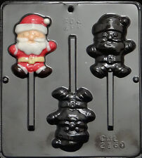 Santa Claus Lollipop Chocolate Candy Mold Christmas 2160 NEW