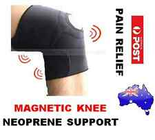 BIO MAGNETIC NEOPRENE KNEE SUPPORT GUARD-SPORTS GYM RSI ARTHRITIS PAIN RELIEF
