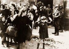 WWII B&W Photo German Troops Warsaw Ghetto Poland  WW2 World War Two /2079