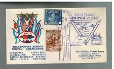 1943 El Salvador TACA Airlines First Flight Cover FFC to USA