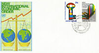 UNITED NATIONS 1980 INTERNATIONAL ECONOMIC ORDER FIRST DAY COVER NEW YORK SHS