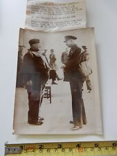 """EARLY WW2 AUTHENTIC PRESS PHOTO OBESE SOLDIER """"TONY 10 TONS"""" """"  GREEN New Romney"""