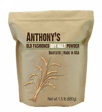 Dry Malt Diastatic Baking Powder (1.5lbs) by Anthony's, Made in the USA
