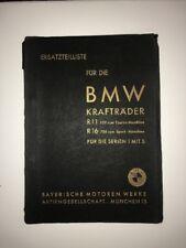 BMW 1937 R11, R16 Ersatzteilliste partslist original vintage Motorcycle