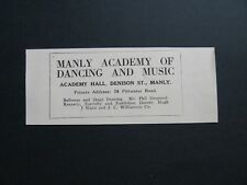 Manly Academy Of Dancing & Music Dennison St Manly Phil Desmond - Kennedy