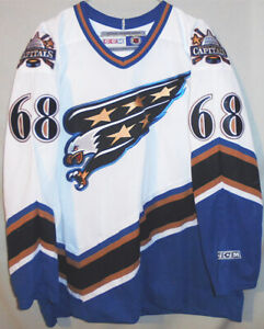 Rare -Jaromir Jagr- Game Used Washington Capitals NHL Hockey Uniform Jersey