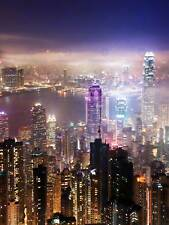 HONG KONG NIGHT CITYSCAPE PHOTO ART PRINT POSTER PICTURE BMP917A