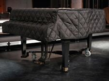 """Black Quilted Grand Piano Cover - For Baby Grand Pianos between 6'5"""" - 6'9"""""""