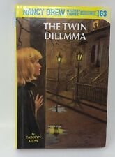Nancy Drew #63 THE TWIN DILEMMA Hardcover HB Glossy Book Lk New  Chapter