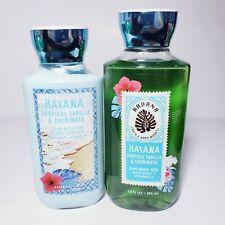 Bath & Body Works HAVANA Tropical Vanilla & Cherimoya Shower Gel Lotion Set New