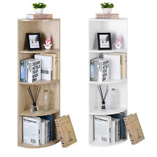 SONGMICS 4-Tier Corner Bookcase Shelf Unit Display Storage Shelves Living Room
