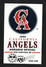 California Angels--1994 Spanish Pocket Schedule--KALI/Budweiser