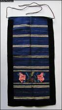 19C. Antique Balkan Folk Costume Ladies Embroidered Wool & Velvet Apron