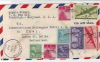 u.s. 1948 multi stamps air mail to switzerland   stamp cover ref r14557