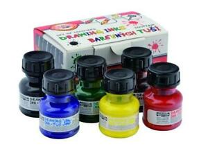 Koh-I-Noor Set of Technical Colour Drawing Inks 6 x 20ml