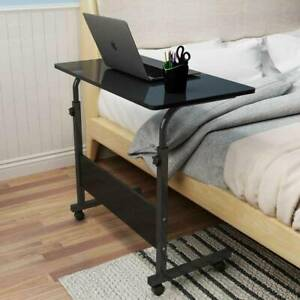 Adjustable Portable Laptop Table Computer Notebook Desk Trolley Sofa Bed Tray UK