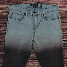Rude Jeans Mens Super Skinny Teal to Black Coloring Punk 32x29