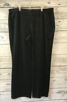 Just My Size 3X Black Velour Pull On Pants Trouser Leg Velvet Elastic JMS 22/24W