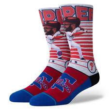 Bryce Harper Philadelphia Phillies Stance MLB Socks Large Big Head Men's 9-13