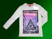 Mädchen Langarmshirt Longshirt leichter Pullover Shirt  Gr. 128