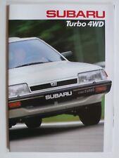 Prospekt Subaru Turbo 4WD Coupe, Sedan, Super-Station, ca.1987, 28 S. - Schweiz