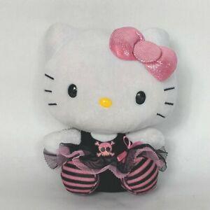 """Ty Hello Kitty Goth Punk Rock Ballerina Tutu Skull Stuffed Animal 2013 5.75"""""""