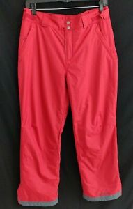 Columbia Mens Omni Tech Red Ski Snowboarding Pants Size Large Insulated z10