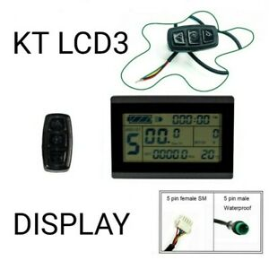 Ebike KT LCD3 Display Screen Meter Panel for KT Series Controllers 24 36 48V LCD