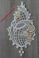 PLAUENER SPITZE ® Fensterbild STERN Weihnachten GLOCKE Fensterdekoration WINTER
