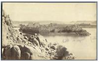 Egypte, Temple Horus et de Sobek (Kom Ombo) vintage albumen print Tirage album