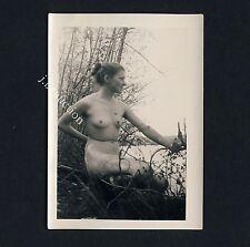 Nudism NUDE WOMAN AT THE LAKE / NACKTE FRAU AM SEE FKK * Vintage 50s Photo