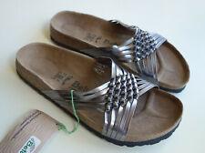 new BETULA by Birkenstock Leather Sandals INKA Spike silver-gray US10 EU41 UK7.5